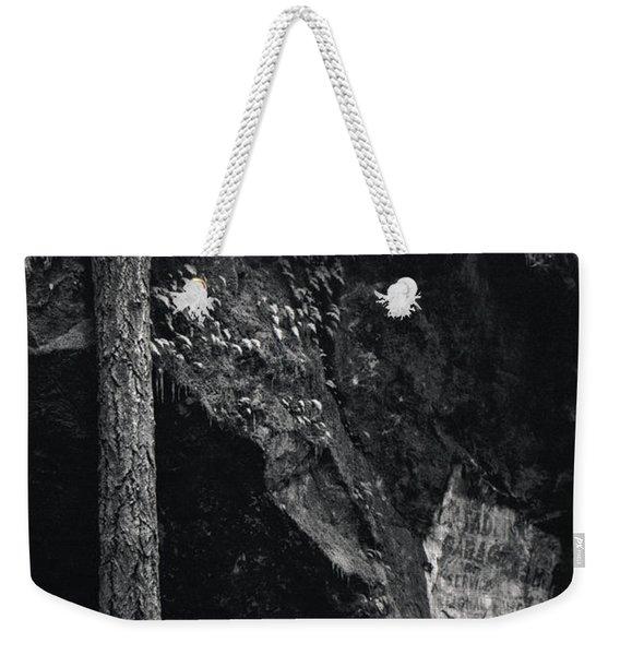Cazadero, Ca  Vintage Sign Weekender Tote Bag