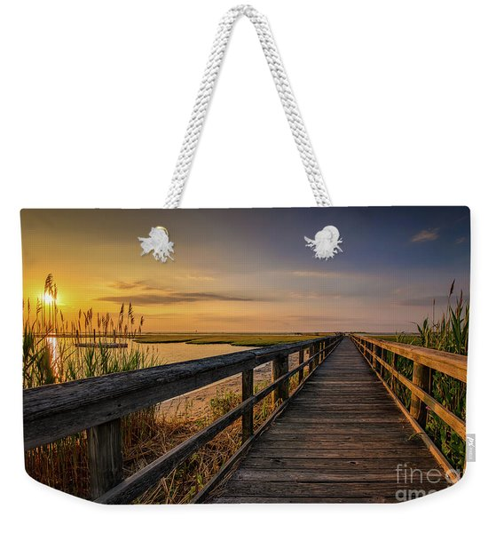 Cedar Beach Pier, Long Island New York Weekender Tote Bag