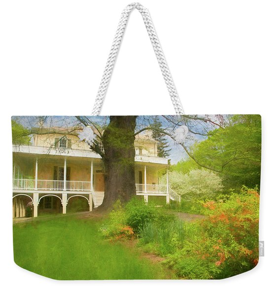 Weekender Tote Bag featuring the photograph Cedar Grove In Spring by Nancy De Flon