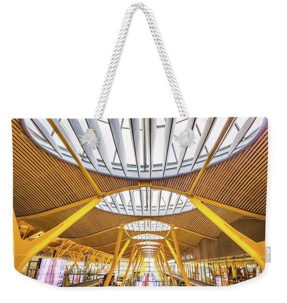 Ceiling Windows Madrid Airport Weekender Tote Bag