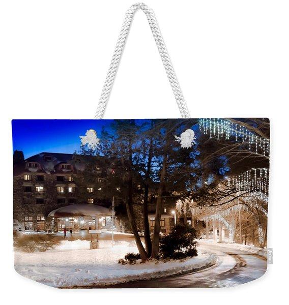 Celebrate The Winter Night Weekender Tote Bag