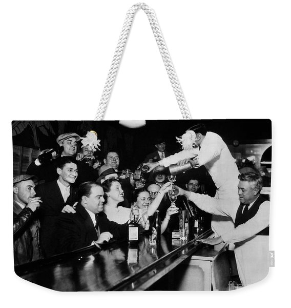 Celebrating The End Of Prohibition Weekender Tote Bag