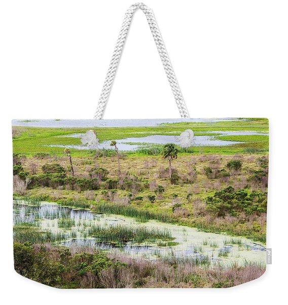 Celery Fields View Weekender Tote Bag