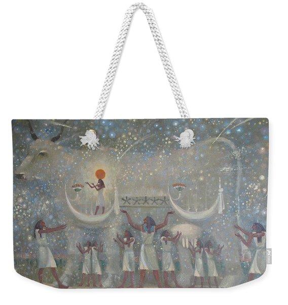 Celestial Cow Weekender Tote Bag