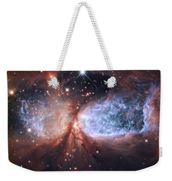 Celestial Snow Angel Weekender Tote Bag