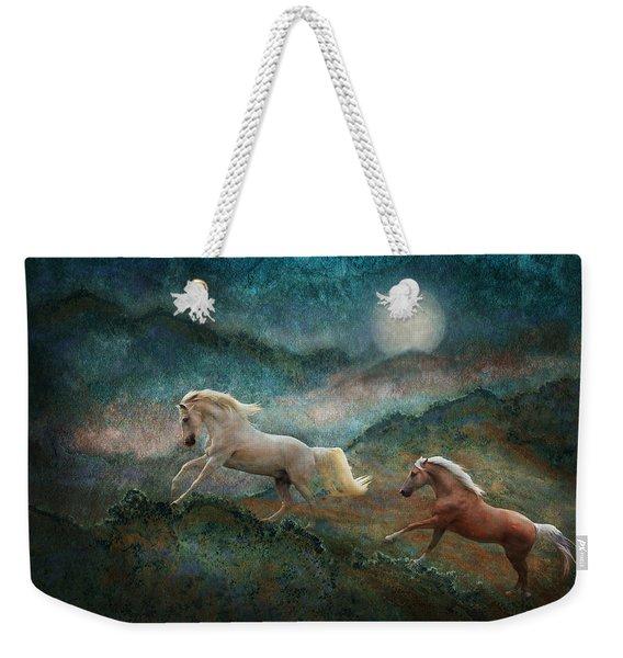 Celestial Stallions Weekender Tote Bag