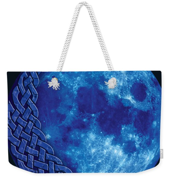 Celtic Blue Moon Weekender Tote Bag