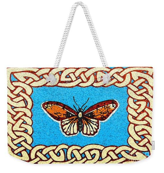 Celtic Butterfly Weekender Tote Bag