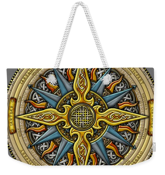 Celtic Compass Weekender Tote Bag