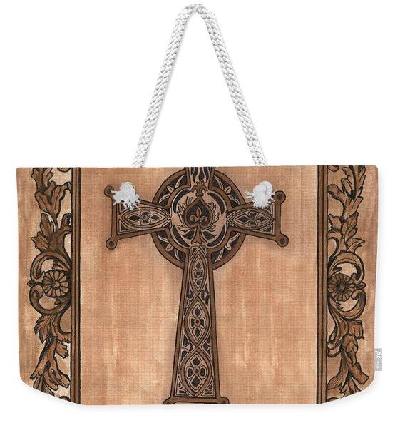 Celtic Cross Weekender Tote Bag