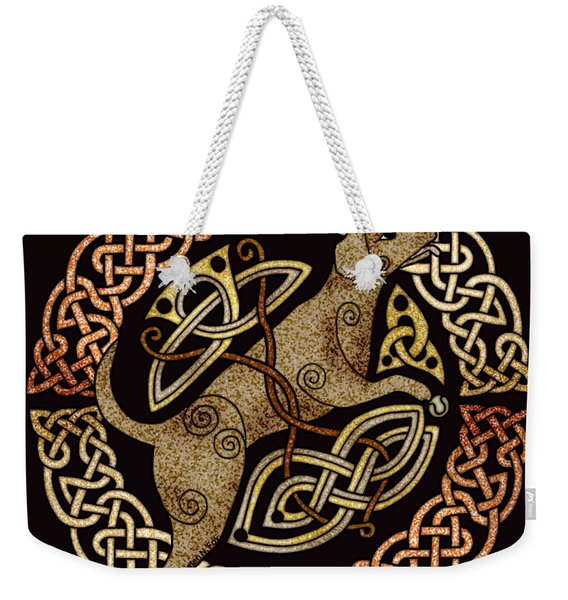 Celtic Dog Weekender Tote Bag