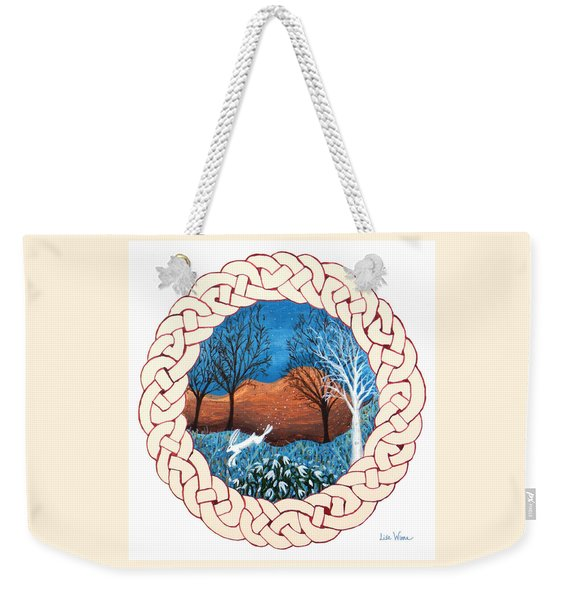 Celtic Knot With Bunny Weekender Tote Bag