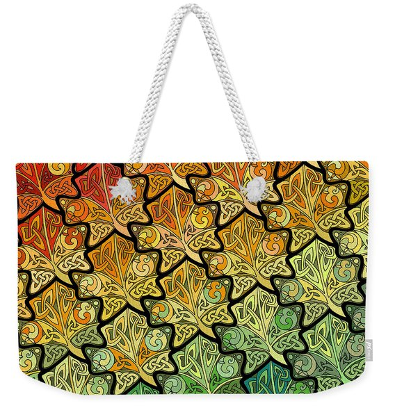 Celtic Leaf Transformation Weekender Tote Bag