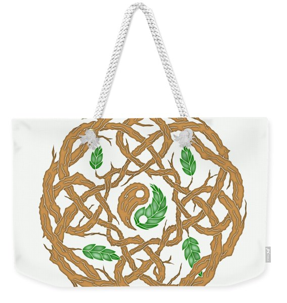 Celtic Nature Yin Yang Weekender Tote Bag