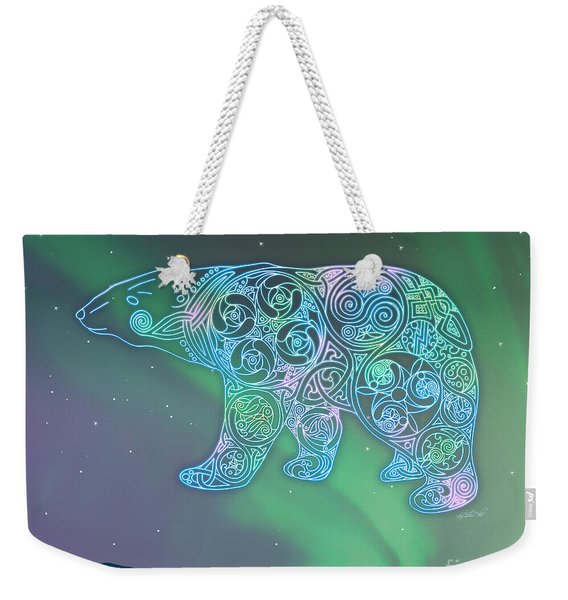 Celtic Polar Bear Weekender Tote Bag