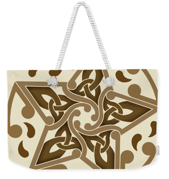 Celtic Star Weekender Tote Bag