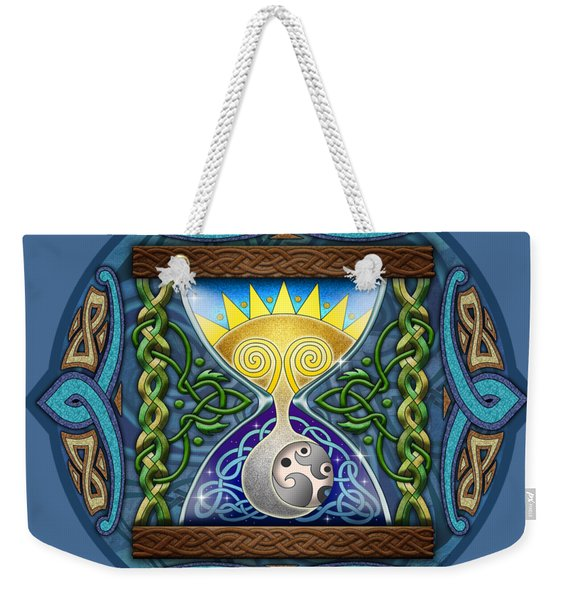 Celtic Sun Moon Hourglass Weekender Tote Bag