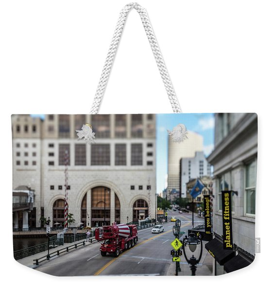 Cement Truck In The Itty-bitty-city Weekender Tote Bag