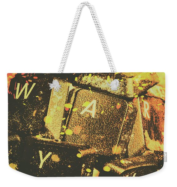 Censorship As A Weapon Weekender Tote Bag