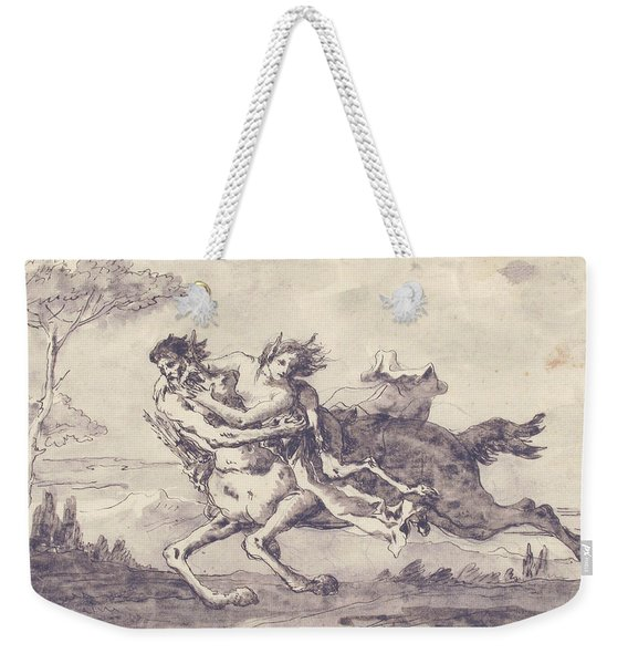 Centaur Abducting A Satyress Weekender Tote Bag