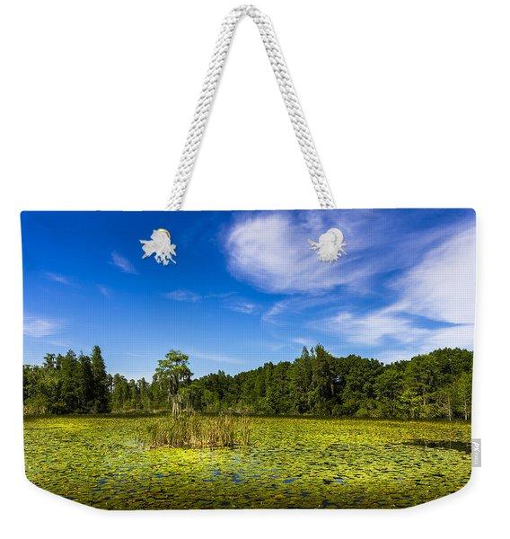 Center Cypress Weekender Tote Bag