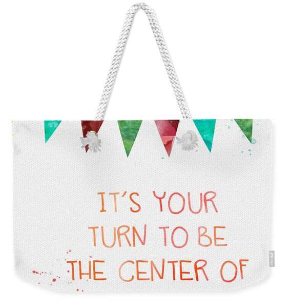 Center Of Attention- Card Weekender Tote Bag