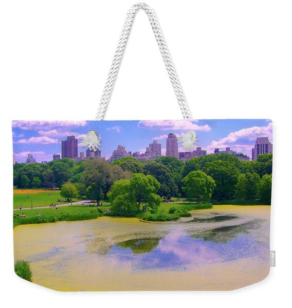 Central Park And Lake, Manhattan Ny Weekender Tote Bag