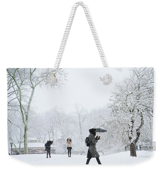 Central Park In Winter Weekender Tote Bag