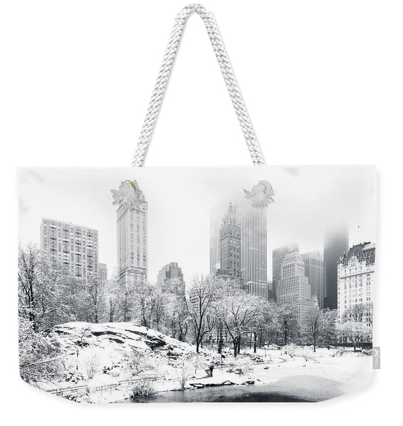 Weekender Tote Bag featuring the photograph Central Park by Mihai Andritoiu