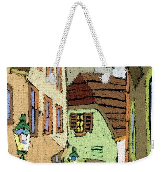 Cesky Krumlov Masna Street Weekender Tote Bag