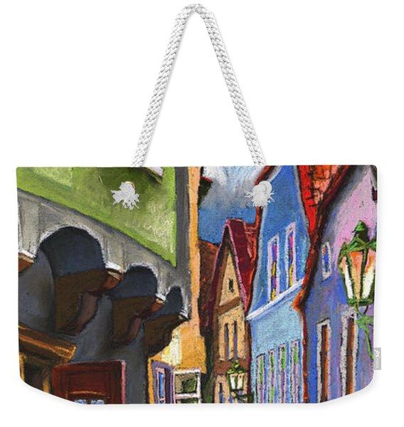 Cesky Krumlov Old Street 1 Weekender Tote Bag
