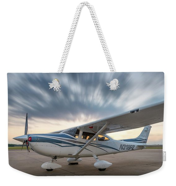 Cessna 182 On The Ramp Weekender Tote Bag
