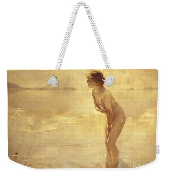 Chabas, September Morn Weekender Tote Bag