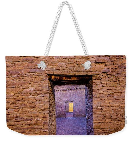 Chaco Canyon - Pueblo Bonito Doorways - New Mexico Weekender Tote Bag