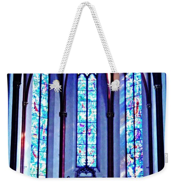 Chagall Windows In St Stephen's Church 1   Weekender Tote Bag