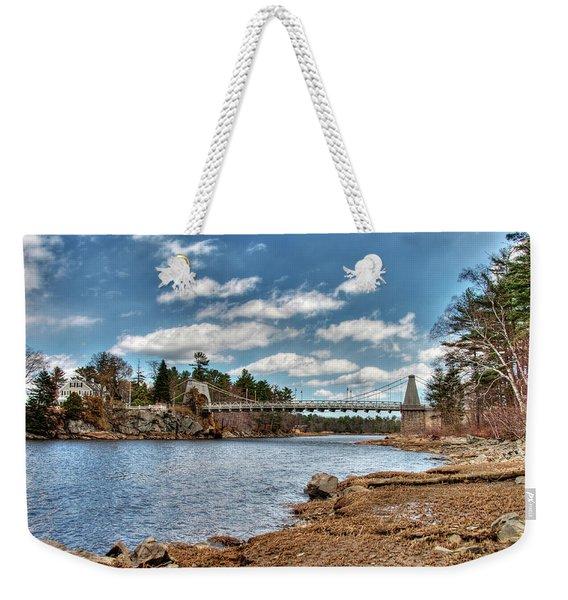 Chain Bridge On The Merrimack Weekender Tote Bag