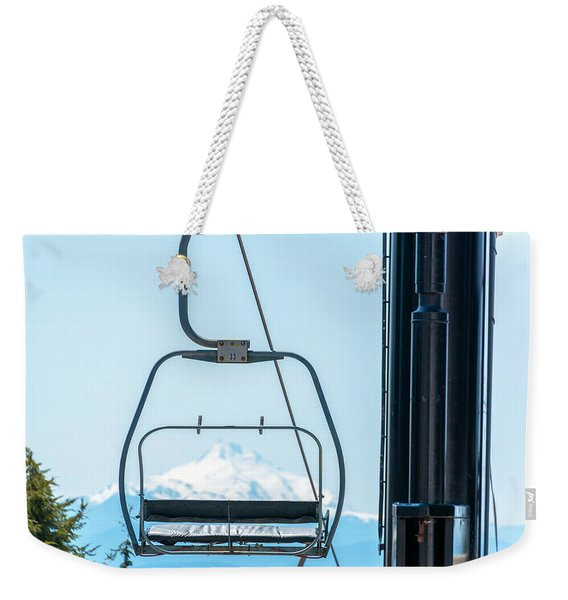 Chairlift And Mount Jefferson Weekender Tote Bag