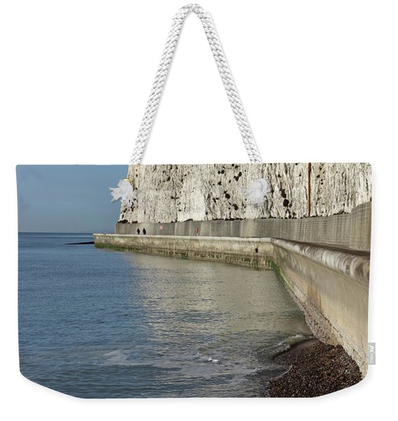 Chalk Cliffs At Peacehaven East Sussex England Uk Weekender Tote Bag