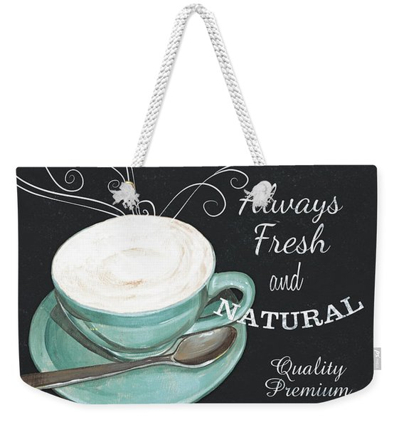 Chalkboard Retro Coffee Shop 1 Weekender Tote Bag