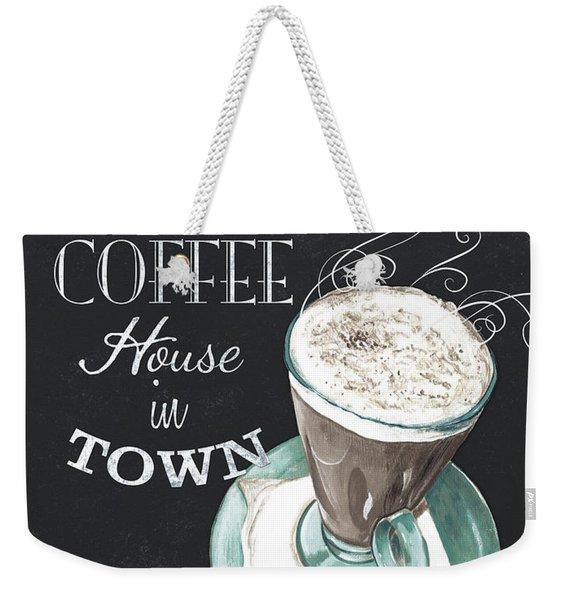 Chalkboard Retro Coffee Shop 2 Weekender Tote Bag