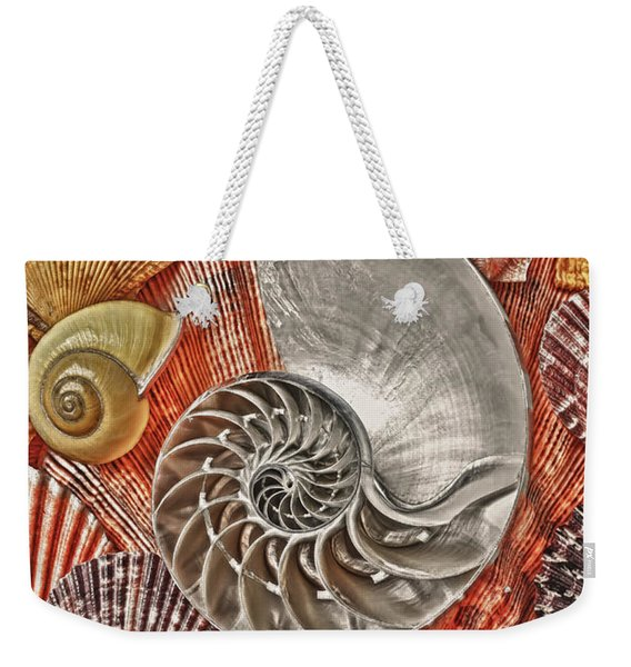 Chambered Nautilus Shell Abstract Weekender Tote Bag