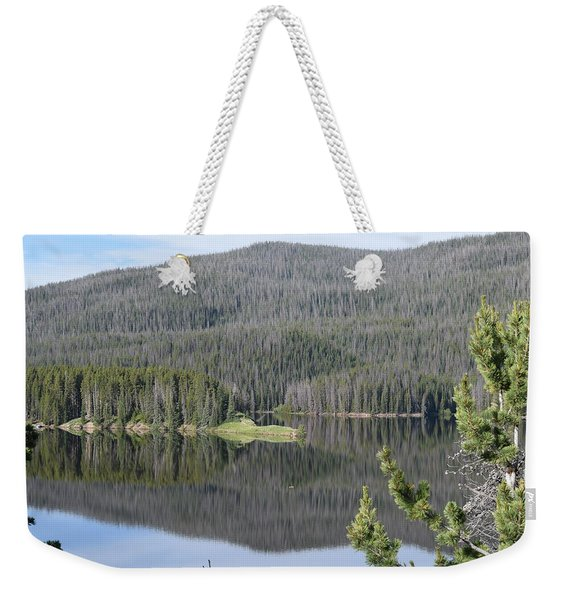 Weekender Tote Bag featuring the photograph Chambers Lake Hwy 14 Co by Margarethe Binkley