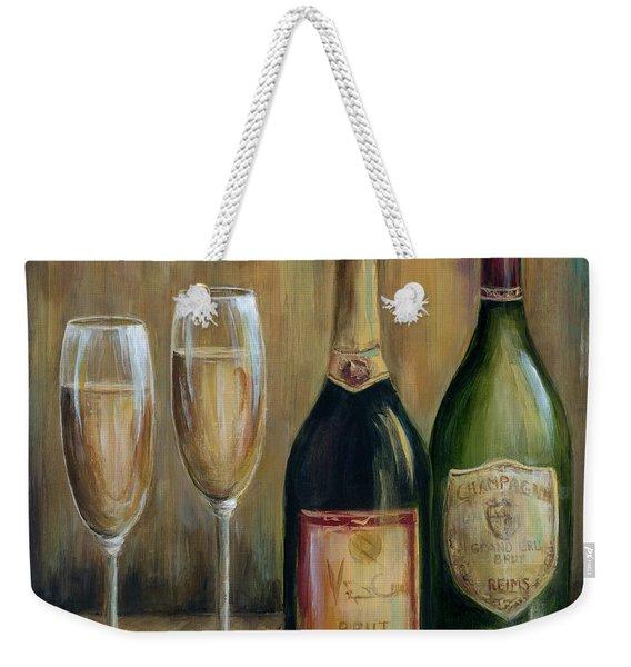 Champagne Celebration Weekender Tote Bag
