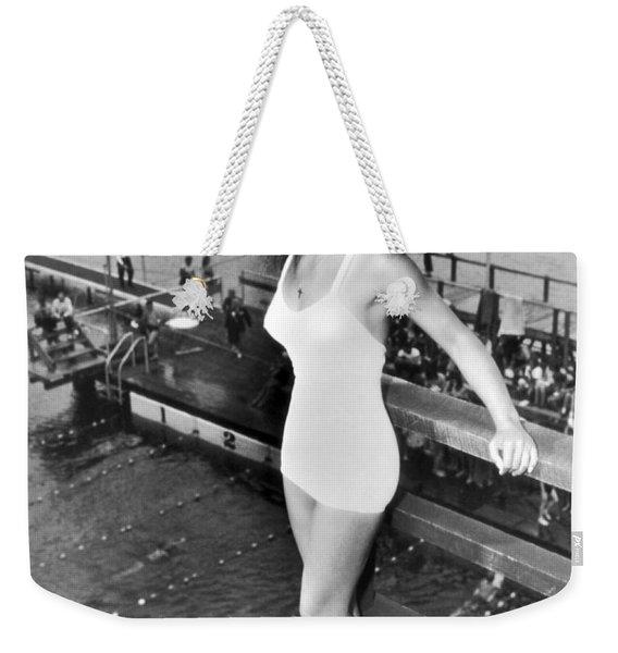 Champion Diver Vicki Draves Weekender Tote Bag