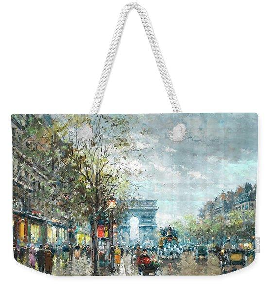 Champs Elysees Avenue, Paris Weekender Tote Bag