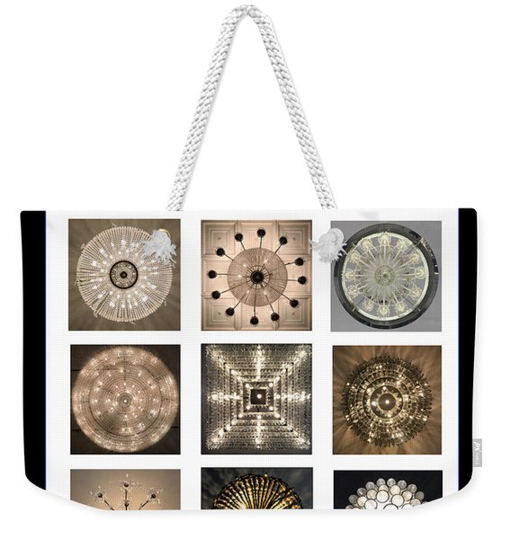 Chandeliers From Chicago Poster Weekender Tote Bag
