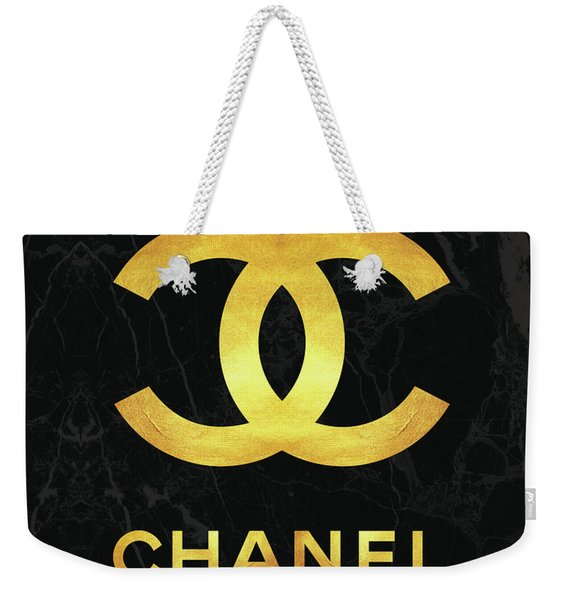 Chanel - Black And Gold - Lifestyle And Fashion Weekender Tote Bag