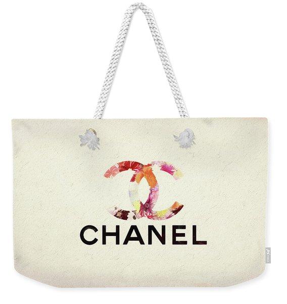 Chanel Floral Texture  Weekender Tote Bag