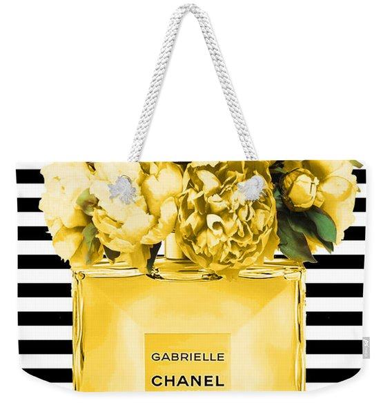 chanel perfume Gabrielle print Weekender Tote Bag