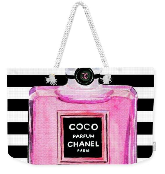 Chanel Pink Perfume 1 Weekender Tote Bag